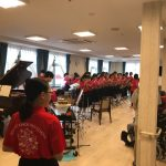 中学生の吹奏楽団が来てくださいました!